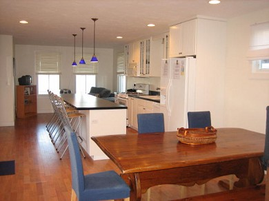 Onset MA vacation rental - Water view - open kitchen- great for entertaining!