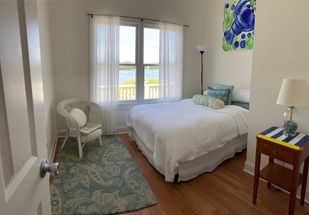 Onset- On the water MA vacation rental - 2nd brm-Full size bed, and water view.