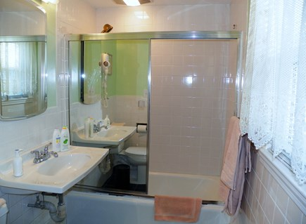 South Yarmouth Cape Cod vacation rental - One of the two full bathrooms with tub and shower