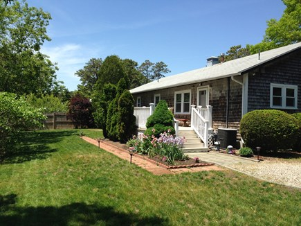 South Yarmouth Cape Cod vacation rental - Flat Backyard is great for games!