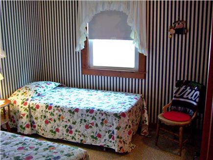 Dennis Port Cape Cod vacation rental - Back Bedroom with twin beds. Built in dresser and closet