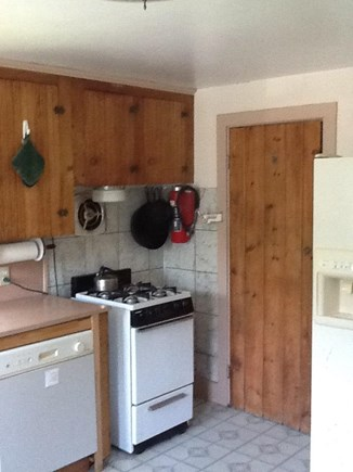 Wellfleet Cape Cod vacation rental - Kitchen with dishwasher, fridge, pantry,  gas stove, new flooring