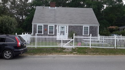 Wellfleet Cape Cod vacation rental - Holbrook House front yard with picket fence.