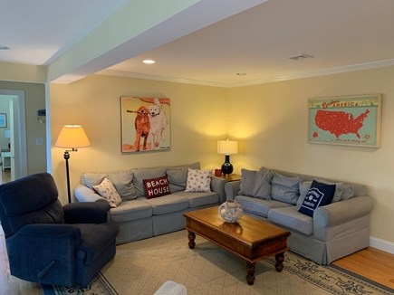 West Falmouth Cape Cod vacation rental - Living room.