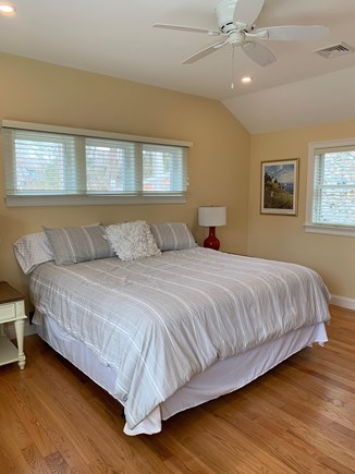 West Falmouth Cape Cod vacation rental - Master bedroom on the first floor with an attached bathroom.