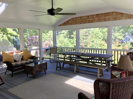 West Falmouth Cape Cod vacation rental - Screened in deck with lots of entertaining room.