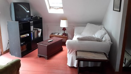 Wellfleet Cape Cod vacation rental - Second floor master bedroom, deck overlooks the yard and bay