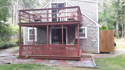 Wellfleet Cape Cod vacation rental - This cottage is two floors sitting on a private hill w/ bay views