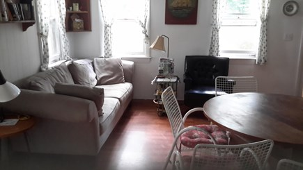 Wellfleet Cape Cod vacation rental - Bright living room with sliders to deck, seating for 6, bay view