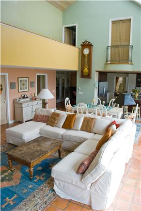 Chatham Cape Cod vacation rental - Great room w/ LG screen TV, cathedral skylit ceilings,dining area