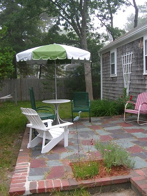 Harwich Port Cape Cod vacation rental - Private fenced yard with patio