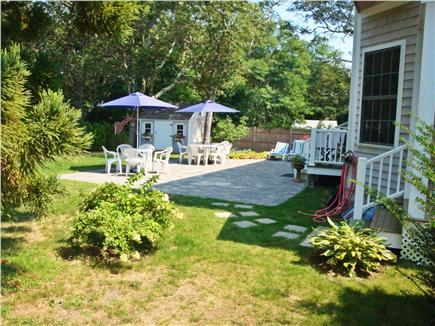 Harwichport Cape Cod vacation rental - Shed holds beach chairs, toys and umbrellas.
