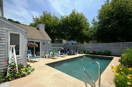 New Seabury, Mashpee New Seabury vacation rental - Refreshing pool and patio for lounging.  BBQ grille as well.