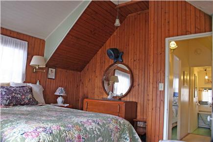 Onset MA vacation rental - Upstairs bedroom with upper deck (water view, queen size bed)