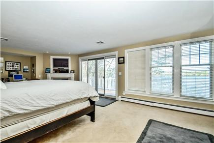 Centerville Centerville vacation rental - Master Bedroom with a Gas Fireplace and Lakeview Balcony