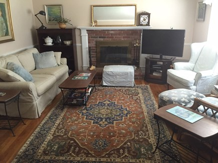 Yarmouthport Cape Cod vacation rental - Spacious comfortable living room has 2 full sofas plus chairs