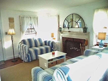 Chatham Cape Cod vacation rental - Living room with fireplace, flat screen HDTV, air conditioned.