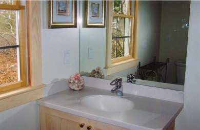 Chatham Cape Cod vacation rental - Large first floor full bath with Corian countertop/Grohe fixture