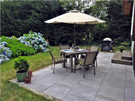 Chatham Cape Cod vacation rental - New Stone Patio facing gardens on south side