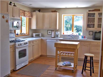 Chatham Cape Cod vacation rental - Spacious modern kitchen with Butcher Block island & TV