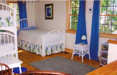 Chatham Cape Cod vacation rental - Bunk Room sleeps 3 with library & toys in play area for children