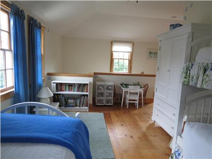 Chatham Cape Cod vacation rental - Bunk Room  with kids books, table & toys with stair access