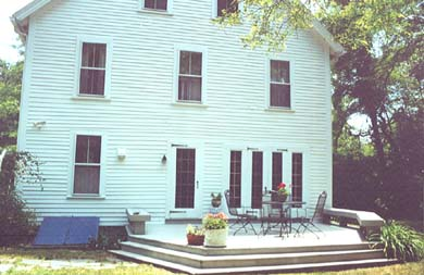 Wellfleet Cape Cod vacation rental - Back deck, large yard for games and relaxing