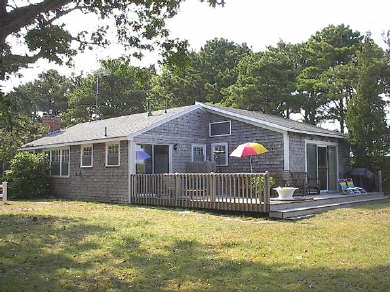South Yarmouth Cape Cod vacation rental - View from back yard. Cottage has wrap around deck