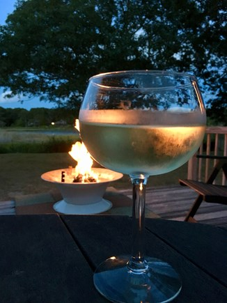 South Yarmouth Cape Cod vacation rental - Relax by the fire pit
