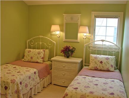Popponesset Beach - Mashpee Cape Cod vacation rental - Charming twin bedroom next to bath and upstairs laundry