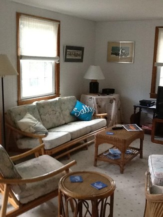 Wellfleet Cape Cod vacation rental - Living room with cable, DVD is a bright, comfortable spot