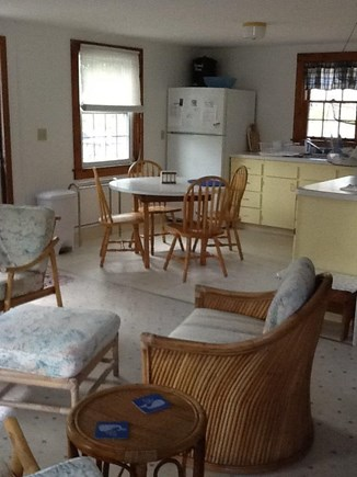 Wellfleet Cape Cod vacation rental - The kitchen is open to the living room.