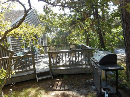 Wellfleet Cape Cod vacation rental - The gas grill makes barbecuing an easy task, for a deck dinner.