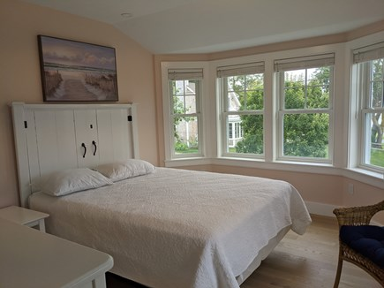 Chatham's Old Village Cape Cod vacation rental - Sunset bedroom with water and sunset views and a queen bed