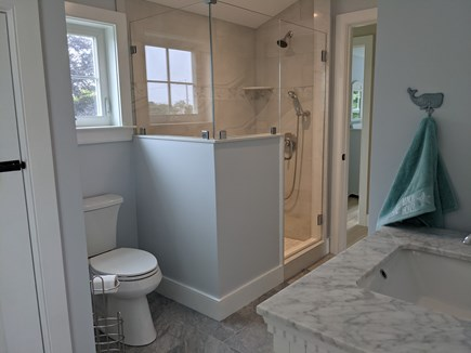 Chatham's Old Village Cape Cod vacation rental - Tiled shower bathroom on 2nd floor. Half bath on first floor.