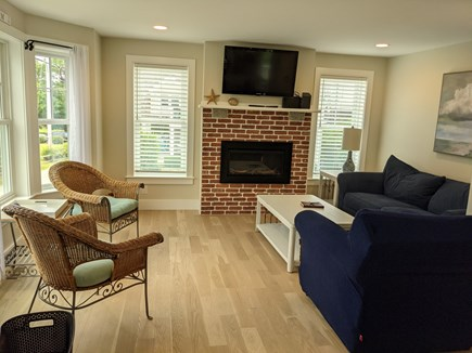 Chatham's Old Village Cape Cod vacation rental - Living Room with Waterviews and Sunset