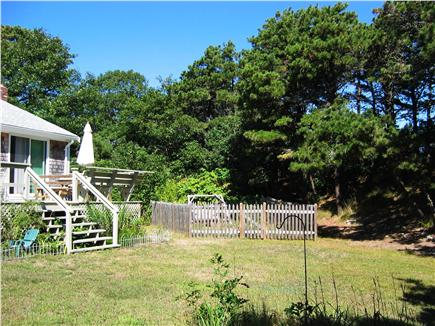 Chatham Cape Cod vacation rental - Large Backyard with deck and relaxing fish pond