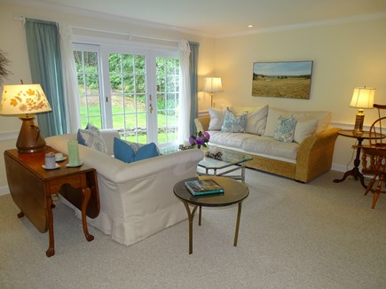 Chatham Cape Cod vacation rental - Second seating area w/ French doors to backyard, summer breezes