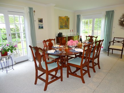 Chatham Cape Cod vacation rental - Full of sunlight - dining area for eight