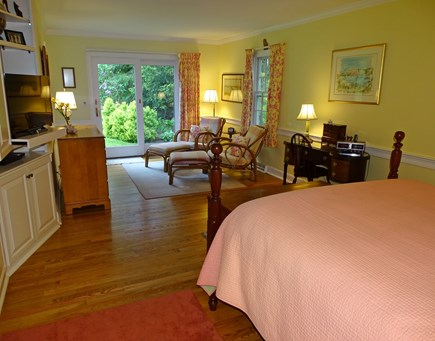 Chatham Cape Cod vacation rental - Master suite with TV viewing area with slider to back yard