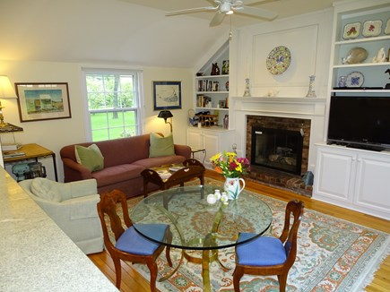 Chatham Cape Cod vacation rental - Family room off open kitchen with large TV