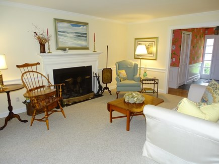 Chatham Cape Cod vacation rental - Large open living room w/ fireplace and two seating areas