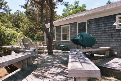 North Eastham Cape Cod vacation rental - Front Deck