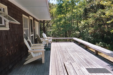 North Eastham Cape Cod vacation rental - Back Deck