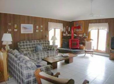 North Eastham Cape Cod vacation rental - Open Living/Dining/Kitchen with view to bay and minisplit AC