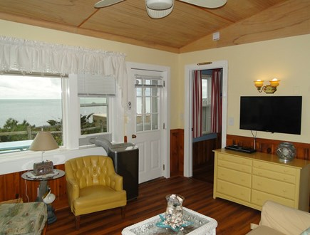 Dennis Port Sea Street Beach Cape Cod vacation rental - Living room offers flat screen TV, opens to ocean views