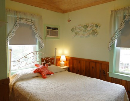 Dennis Port Sea Street Beach Cape Cod vacation rental - Queen bedroom with A/C, flat screen TV and ceiling fan