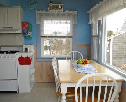 Dennis Port Sea Street Beach Cape Cod vacation rental - Dining with door to deck, water view