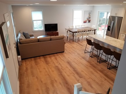 Harwich Port Cape Cod vacation rental - Kitchen, living room, dining and patio