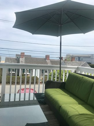 Provincetown Cape Cod vacation rental - Outdoor front facing deck overlooking Commercial Street and Bay